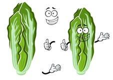 Vegetal feliz da couve chinesa dos desenhos animados Imagens de Stock Royalty Free