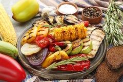 Vegetal grelhado fotografia de stock