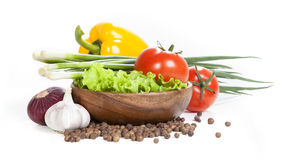 Vegetal isolado em um fundo branco Imagem de Stock