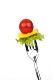 Vegetal na forquilha Imagens de Stock Royalty Free