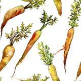 Vegetal selvagem da cenoura alaranjada Teste padrão sem emenda do fundo Textura da cópia do papel de parede da tela imagem de stock royalty free