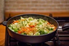 Vegetal Stew Conceito: nutri??o apropriada ou prato diet?tico fotografia de stock