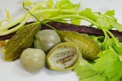 Vegetal tailandês da variedade imagens de stock royalty free