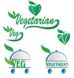 Vegetariër en veg symbool Stock Fotografie