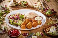 Vegetariër falafels Stock Afbeelding