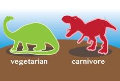 Vegetariër versus Carnivoor Royalty-vrije Stock Foto's