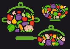 vegetarian еды иллюстрация штока