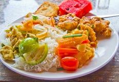 vegetarian риса шведского стола Стоковые Изображения