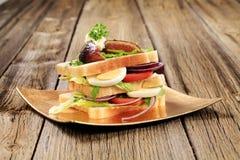 vegetarian сандвича Стоковые Изображения