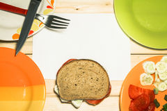vegetarian сандвича Стоковая Фотография RF