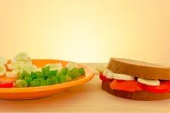 vegetarian сандвича Стоковые Изображения RF