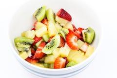 vegetarian салата фарфора померанцев виноградин плодоовощ еды Стоковые Фото