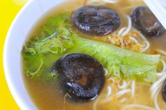 vegetarian супа лапшей гриба Стоковые Изображения RF