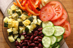 vegetarian тарелки Стоковые Фото