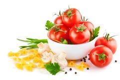 vegetarian томата еды champignons Стоковое фото RF