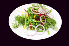 Vegetarian. Dish at restaurant Royalty Free Stock Images