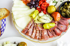 Vegetarian antipasto Stock Images