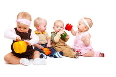 Vegetarian babies Stock Photos