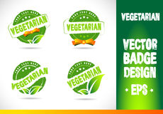 Vegetarian Badge Vector Stock Image