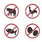 Vegetarian badges. Vector illustration with Vegetarian badges Stock Images