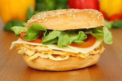 Vegetarian bagel Stock Image