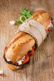 Vegetarian baguette sandwich Stock Photos