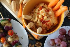 Vegetarian bantar, det sunda matbegreppet arkivfoton
