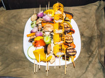 Vegetarian Barbecue Royalty Free Stock Photo