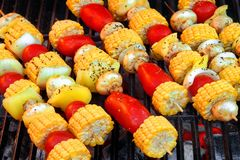 Vegetarian BBQ Royalty Free Stock Photos