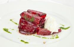 Vegetarian Beatroot Carpaccio Royalty Free Stock Image