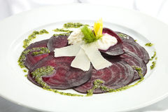 Vegetarian Beetroot Carpaccio Royalty Free Stock Images