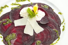 Vegetarian Beetroot Carpaccio Stock Photo