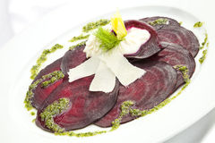 Vegetarian Beetroot Carpaccio Stock Images