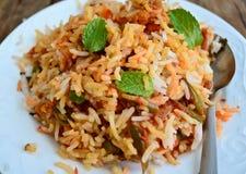 Vegetarian Biryani. Keema Biryani Masala Rice stock image