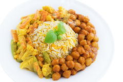 Vegetarian biryani rice Stock Photography