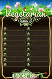 Vegetarian Board Menu for Bar or Restaurant Royalty Free Stock Photography