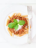 Vegetarian Bolognese sauce Royalty Free Stock Photos