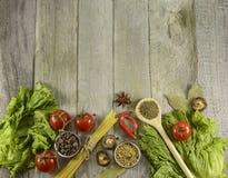 Vegetarian border Stock Image