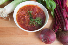 Vegetarian Borscht Stew Stock Photos