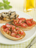 Vegetarian Bruschetta Stock Photos