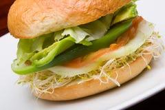 Vegetarian bun Royalty Free Stock Photo