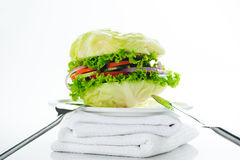 Vegetarian Burger Stock Images