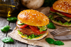 Vegetarian burger Royalty Free Stock Photography