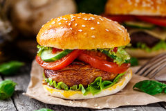 Vegetarian burger Royalty Free Stock Image