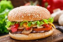 Vegetarian burger Stock Photos