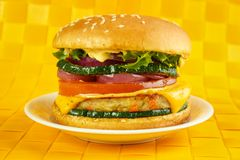 Vegetarian burger Royalty Free Stock Images