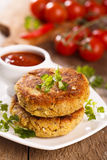 Vegetarian burger Stock Images