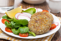 Vegetarian burgers made from lentils and buckwheat Stock Images