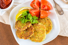Vegetarian burgers with sauce and vegetable, selective focus Royalty Free Stock Photos
