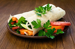 Vegetarian burrito Royalty Free Stock Photo